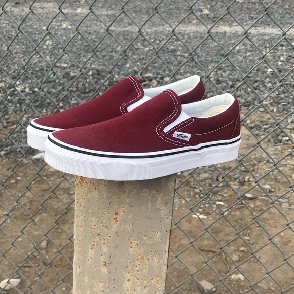 Vans Shoes - Vans burgundy slip on women s 6.5 525f7f8e9